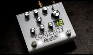 Emerson Custom Pomeroy White Overdrive Distortion Pedal